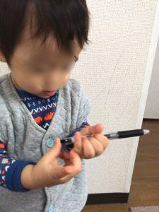 水性ボールペン壁落書き消す方法-11